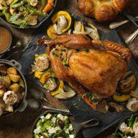 Roast Turkey Christmas Dinner, iStock