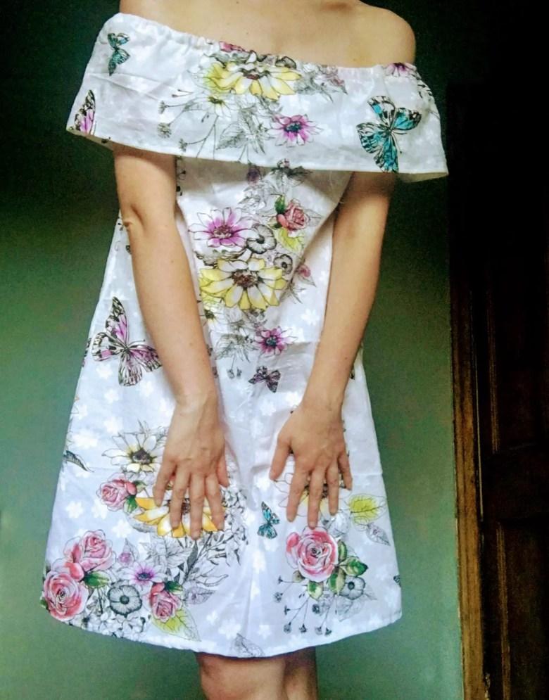 White handmade dress