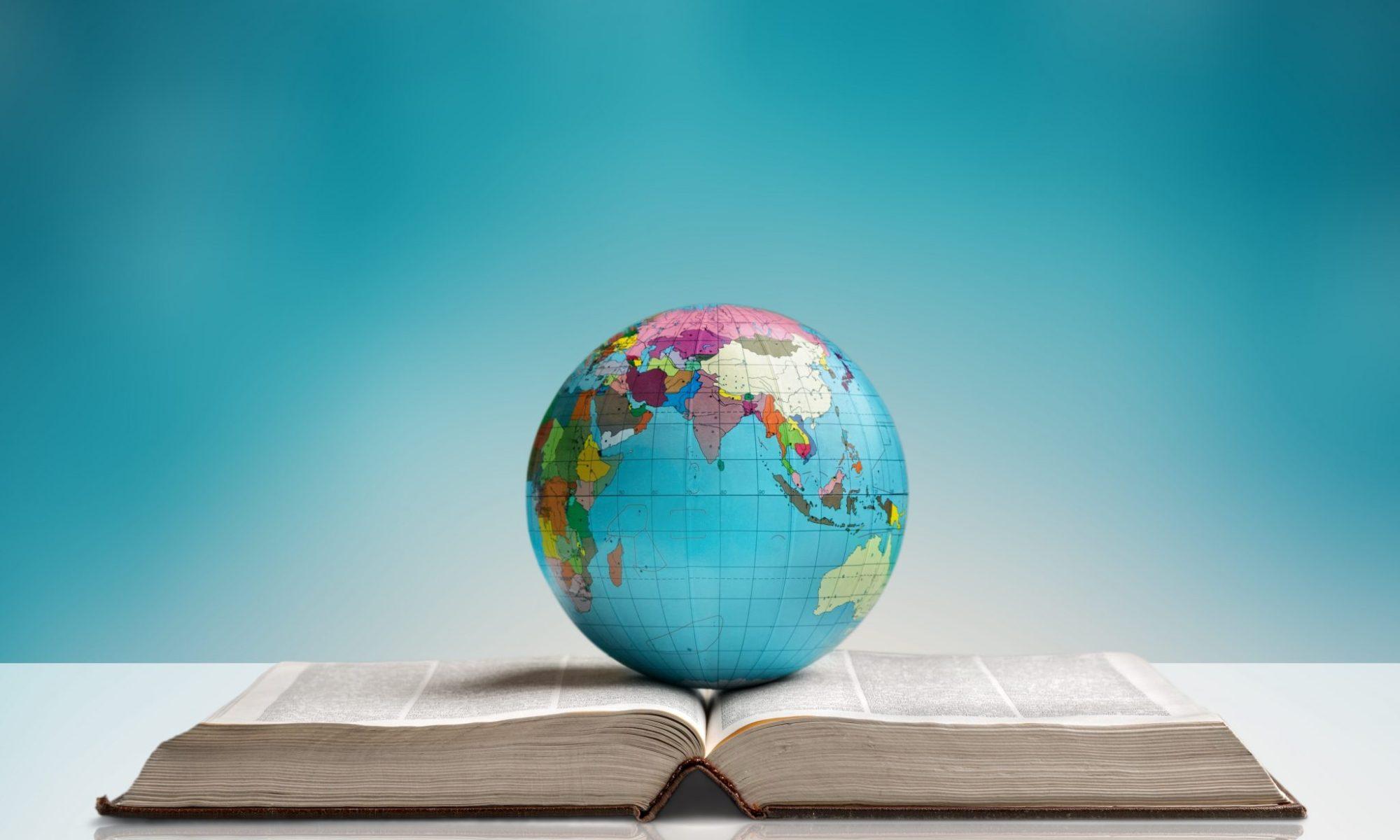 Globe on a book