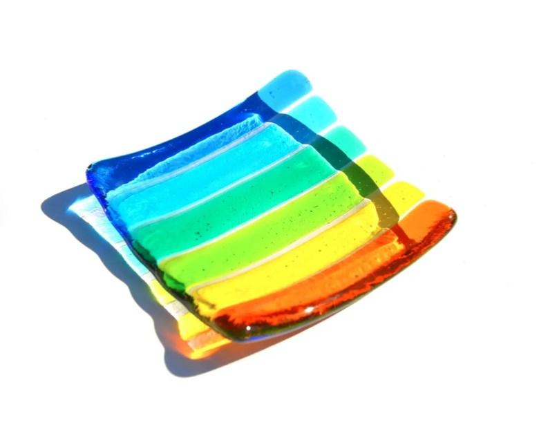 Rainbow trinket dish
