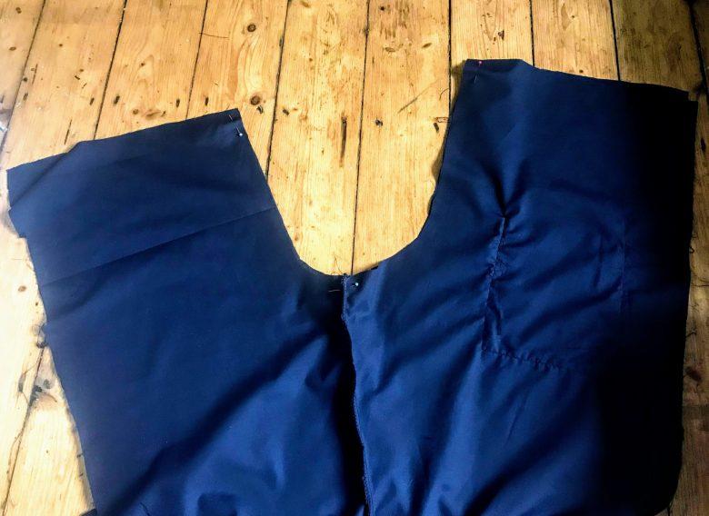 Sewing a crotch seam in scrubs