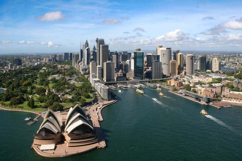A picture of the Sydney CBD