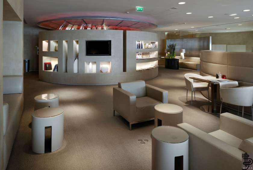 A view of the Salon Premiere Air France lounge at the Charles De Gaulle Airport