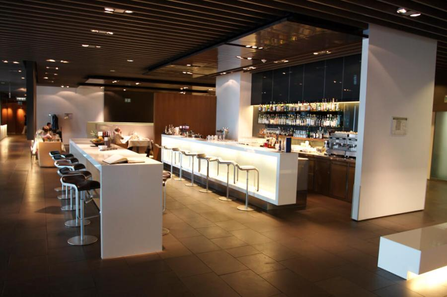 An image of the first class lounge at the Frankfurt Airport in Germany