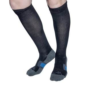 An image of travel socks ideal for long journeys