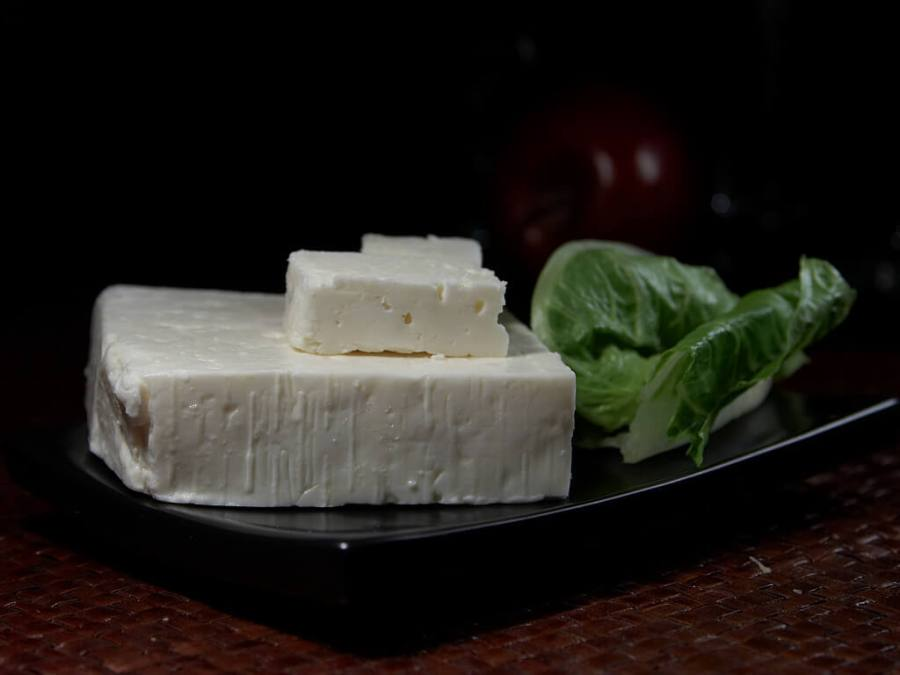An image of block of Greek Feta cheese