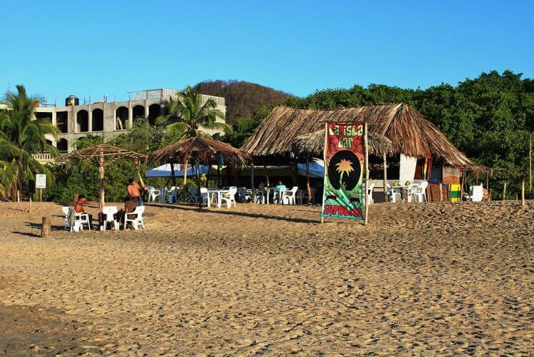 A shot of the lalsala bar on Zipolite beach. A haven for hippies
