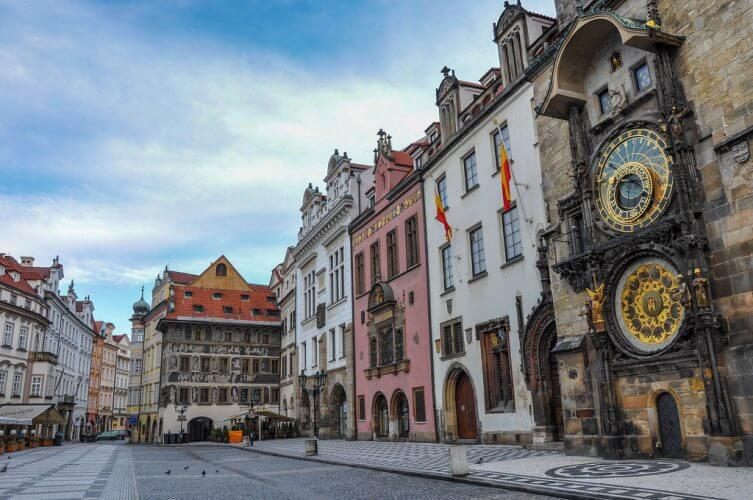 An image of the Old Town Square in Prague, Czech Republic