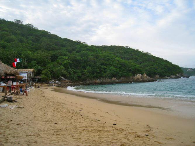 A shot of the Playa La Entrega Beach in Oaxaca