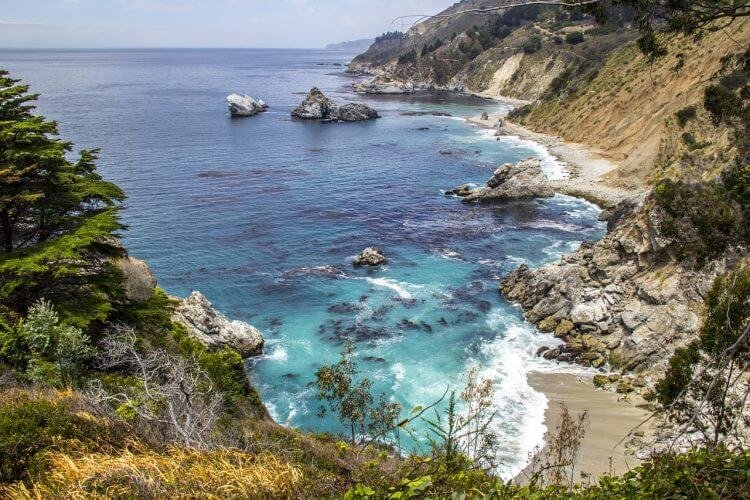 A view of the bay in big Sur California