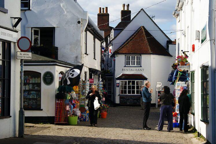 An image of a street in Lymington