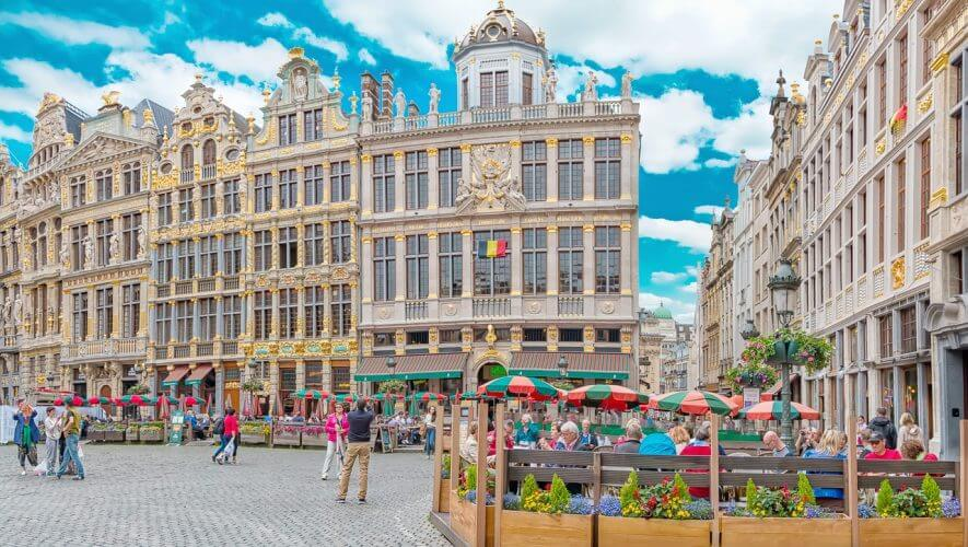 An image of the Grote market in Brussels