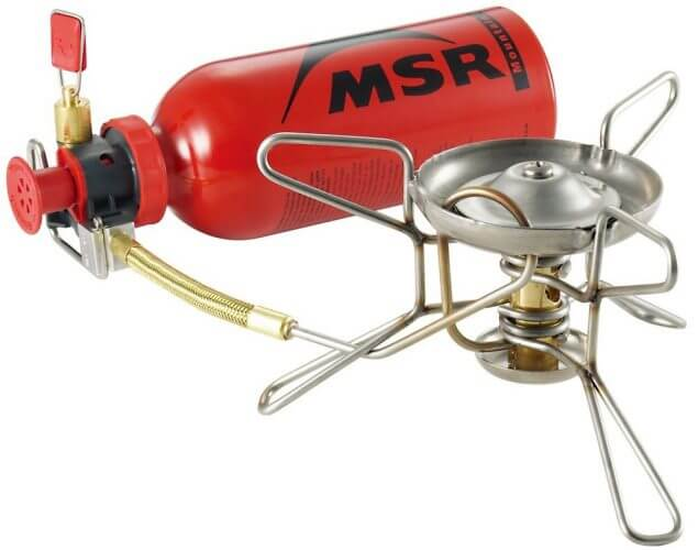 An image of the feature packed WhisperLite Stove. Our pick for the best backpacking stove today