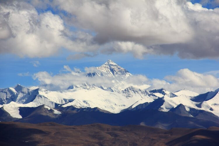 Mount Everest as seen from Lhotse.