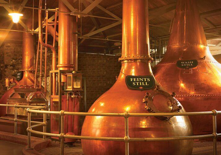The still room in the old jameson distillery in dublin is shown here