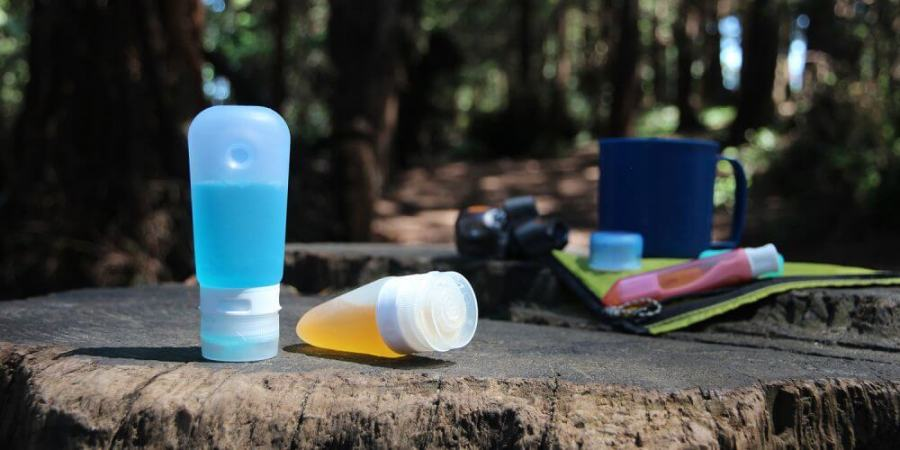 An image of the GoToob squeezable tubes for storing travel essentials