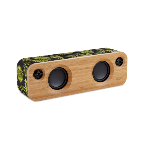 An image of the bamboo bluetooth speaker available from the house of Marley