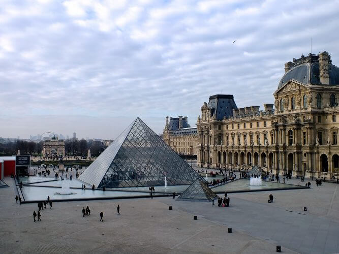 An image of the Louvre Museum in Paris
