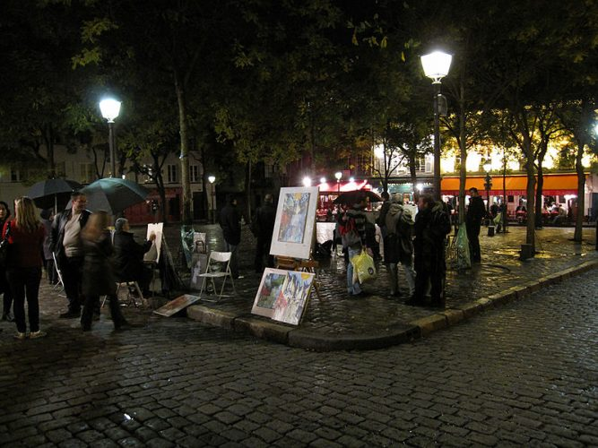 An image of the Montmartre Artists showcasing their work