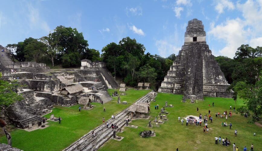A picture of the ruins at Tikal Guatemala