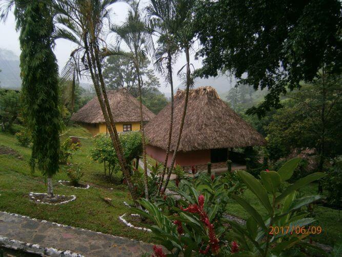 The El retiro resort in Lanquin is shown here