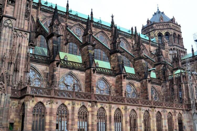 A cathedral in Strasbourg is pictured here