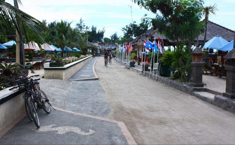 The streets in Gili Trawangan