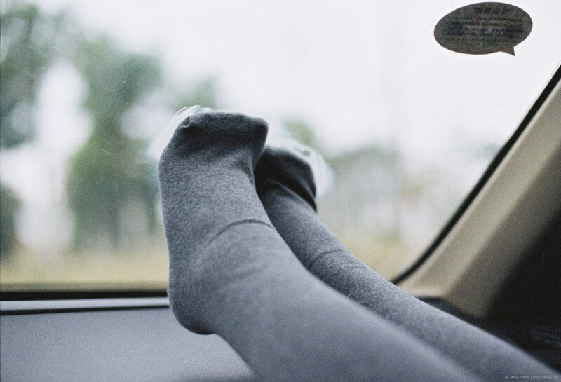 An image of a girl wearing cotton socks