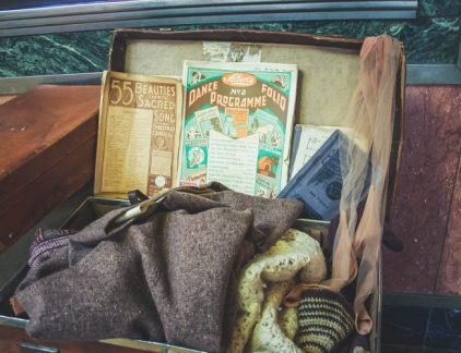 An image of a suitcase with stuff