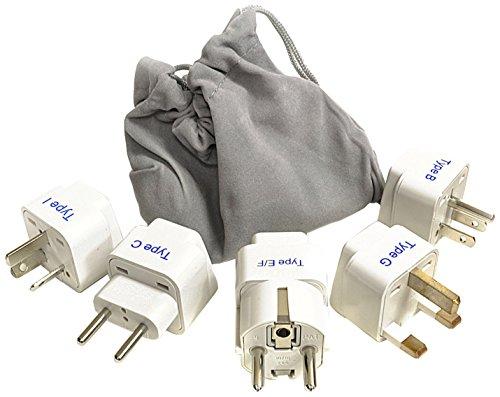 8. Ceptics Adapter Plug Set for World Wide International Travel