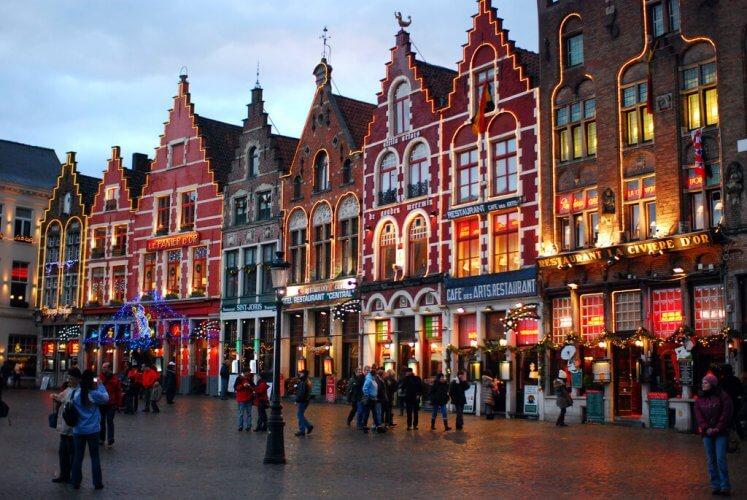 Christmas in Bruges belgium