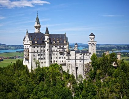 neuschwanstein castle is shown here