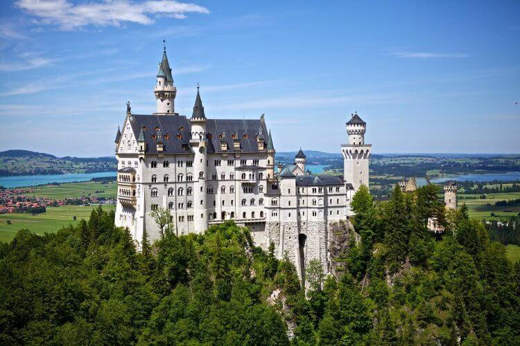 neuschwanstein castle is shown here