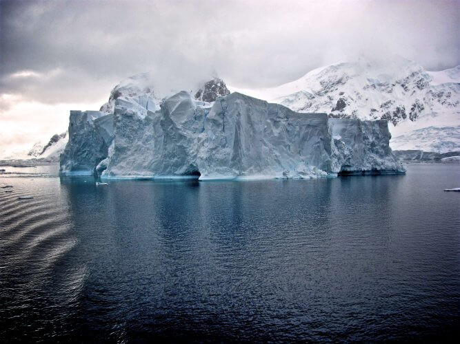An ice cliff in Antarctica