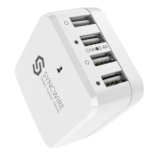 3. Syncwire USB Wall Charger with Adapters