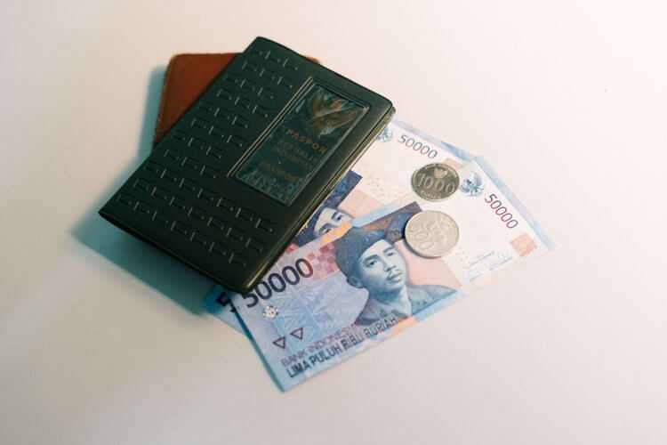 An RFID wallet with cash