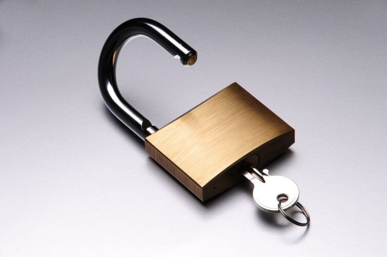 A picture of a small padlock