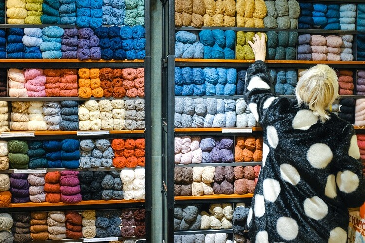 An image of wool dyed in different colors