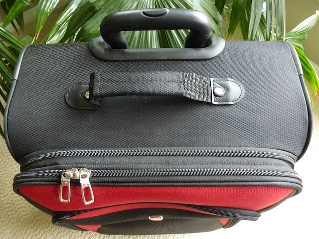 A picture of a luggage's handles