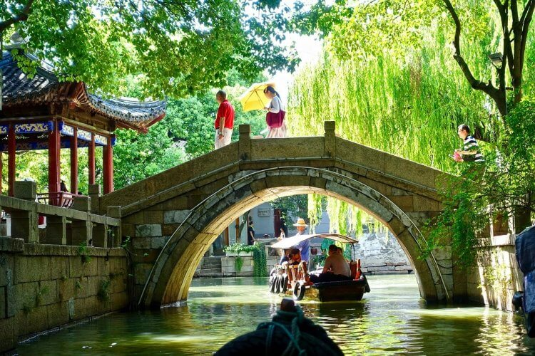 An image of the Canal in Suzhou