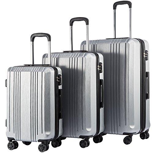 10. Coolife Expandable Suitcase 3 Piece Set