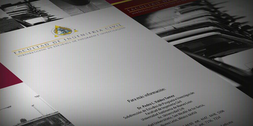 Diseño de trípticos para Facultad de Ingeniería Civil UANL