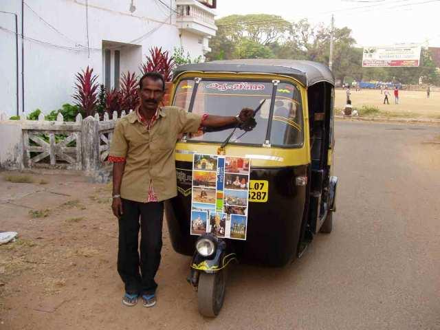 Mein persönlicher TukTukfahrer durch Kochi