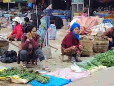 Market in Luang Namptha