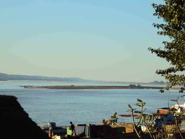 Sandbänke auf dem Irrawaddy
