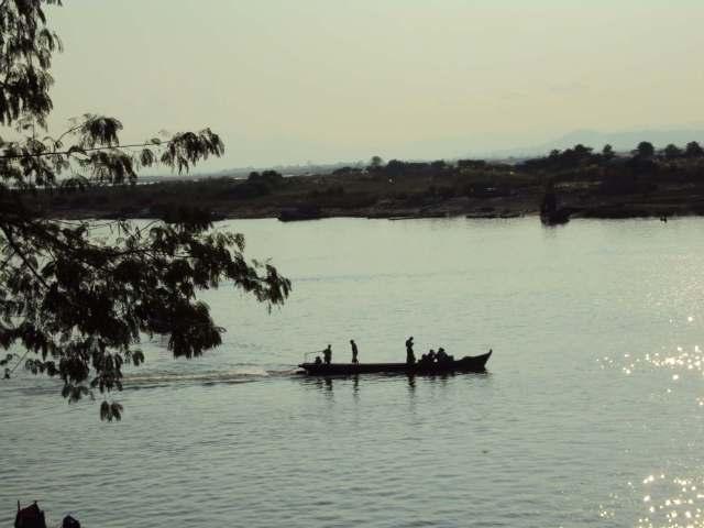 Abendstimmung über dem Irrawaddy