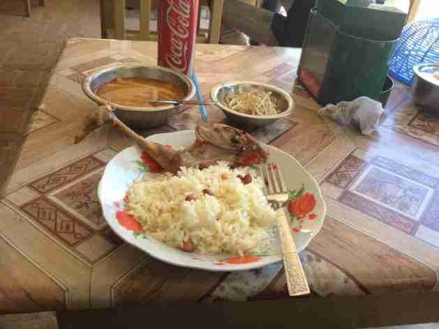 Mahlzeit aif dem Weg nach Kalaw
