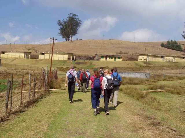 A colourful group on the trek