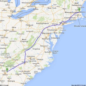 Gwinnett County, GA to Harvard University - Google Maps