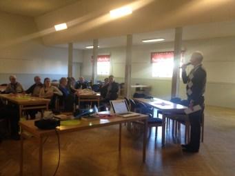 Anders Östlund berättade om kommunens nya organisation för Kutur och för fritidsfrågor. Han informerade även om förslaget till stöd för samlingslokaler.